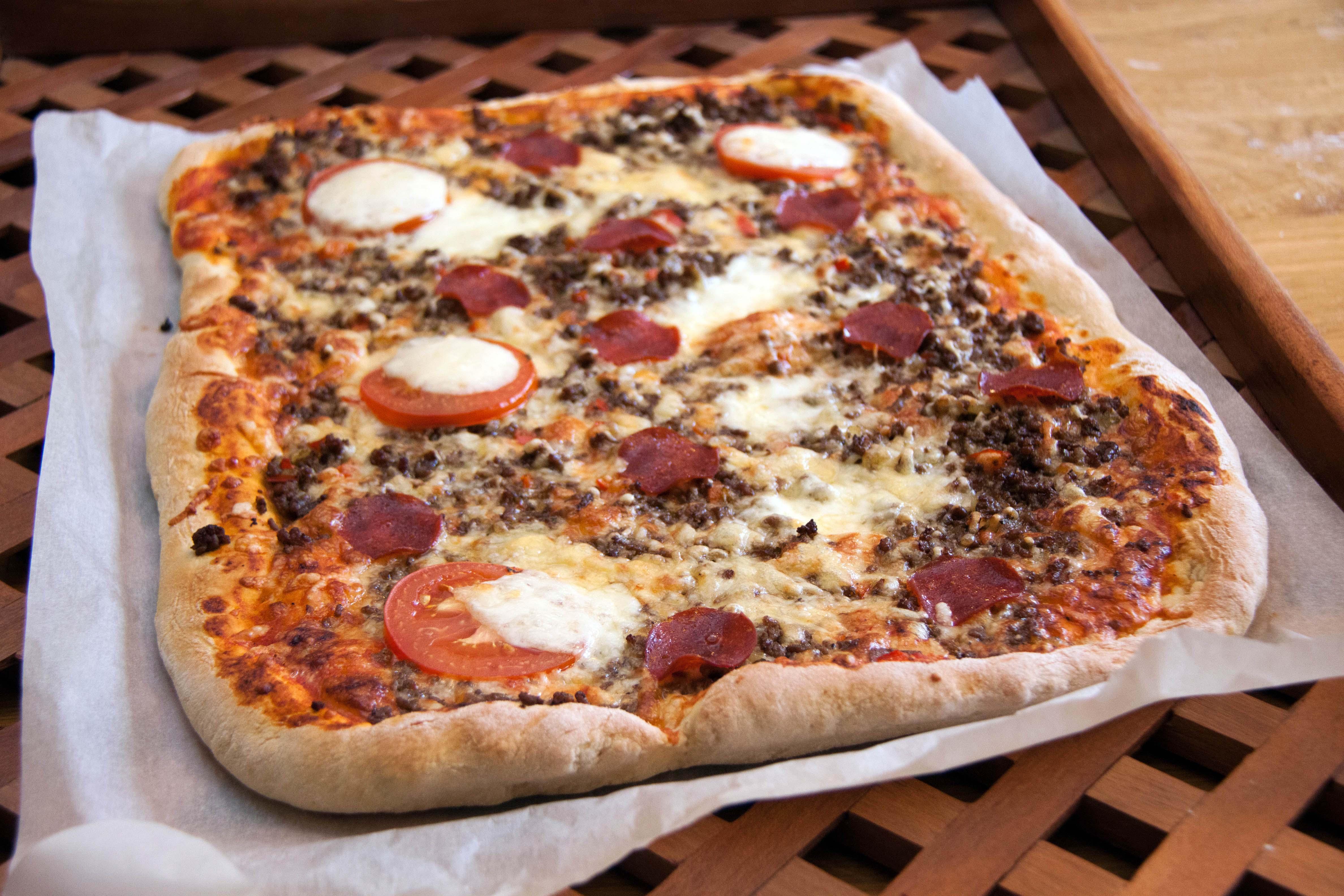 Pizza Kiertoilmauunissa